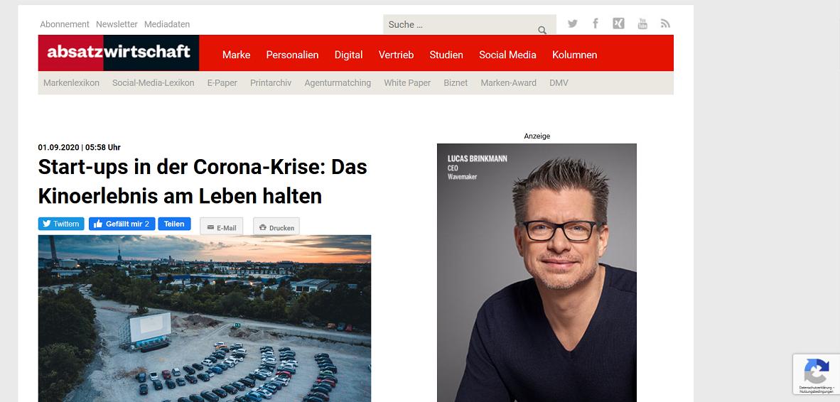 Screenshot: absatzwirtschaft.de