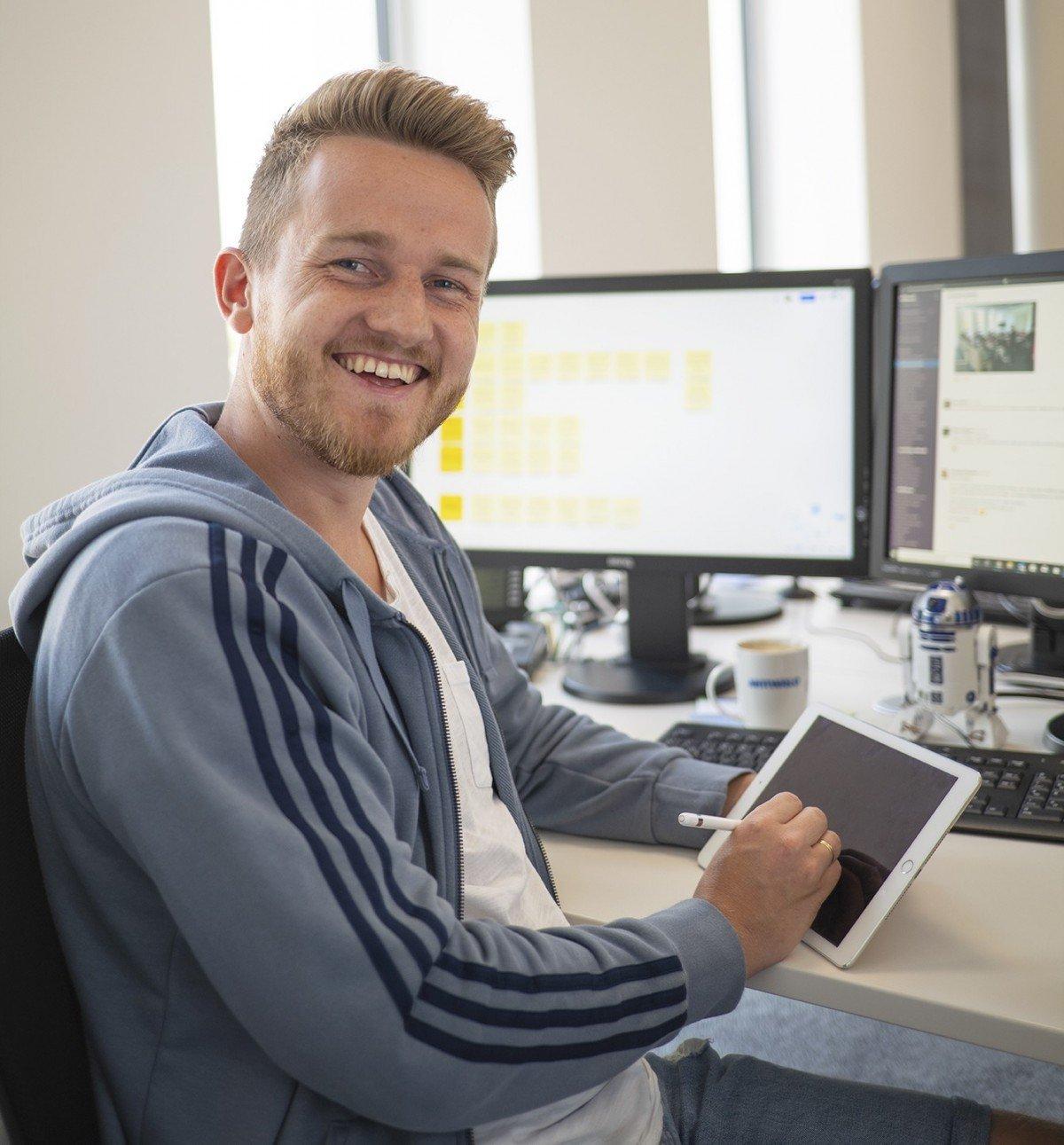 Daniel ist Website Experience Owner bei Mittwald und somit u.a. für die UX auf mittwald.de zuständig.