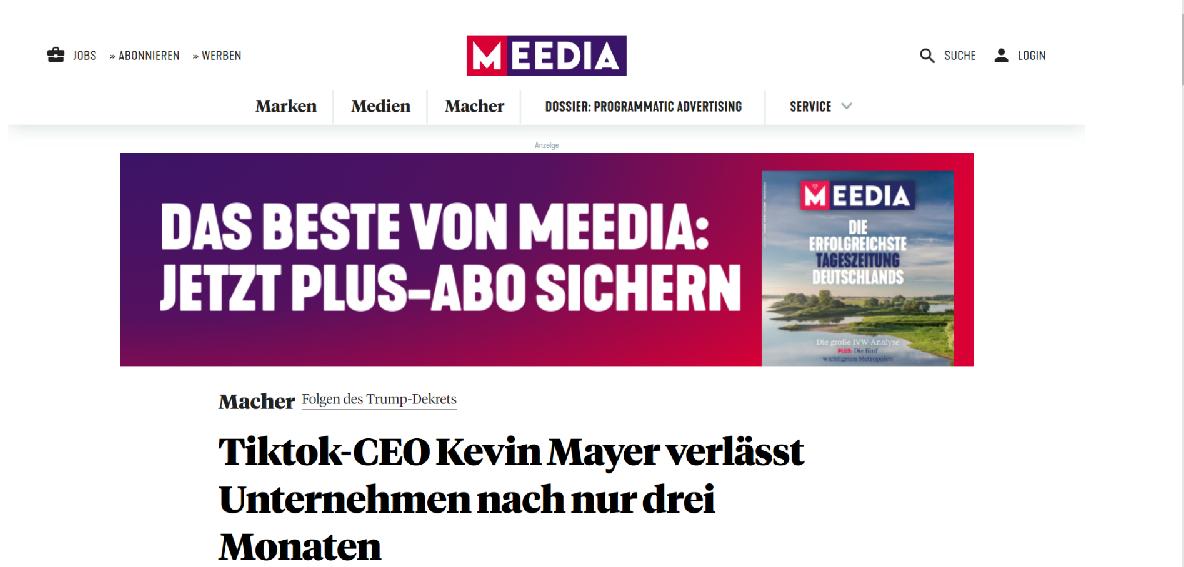 Screenshot: meedia.de