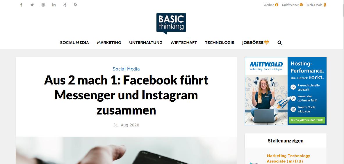 Screenshot basicthinking.de