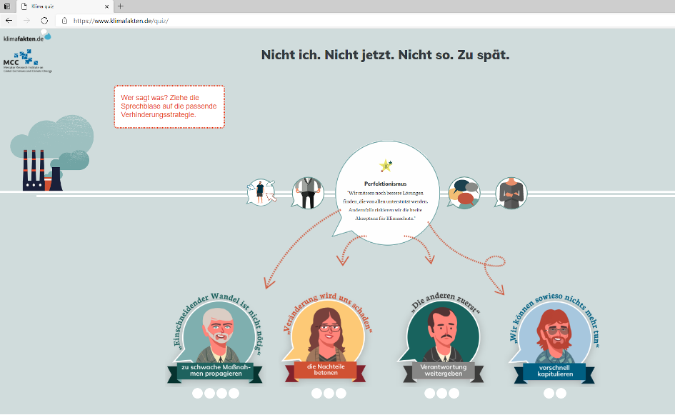 Screenshot Klimafakten.de