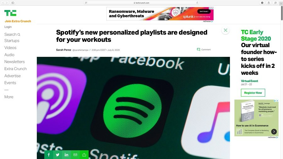 Spotify bietet personalisierte Workouts-Playlists.