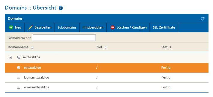 Domainverwaltung: Einfach Änderungen an euren Domaineinstellungen vornehmen