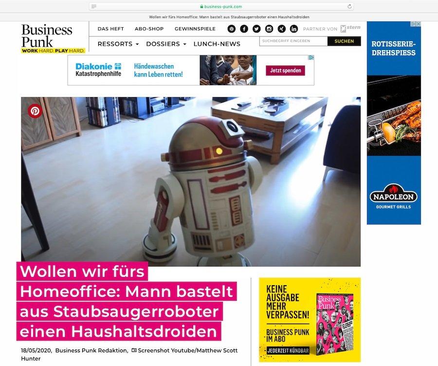 Für Star-Wars-Fans: Haushaltsdroiden selbst gebastelt.
