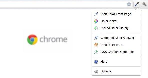 ColorZilla zeigt euch, welche Farben auf einer Website eingesetzt werden.