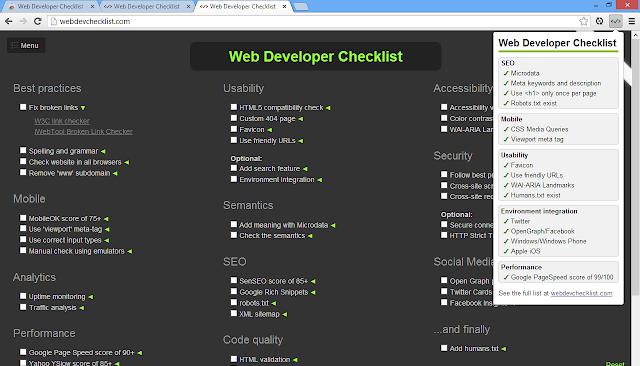 Gedankenstütze für Webentwickler.