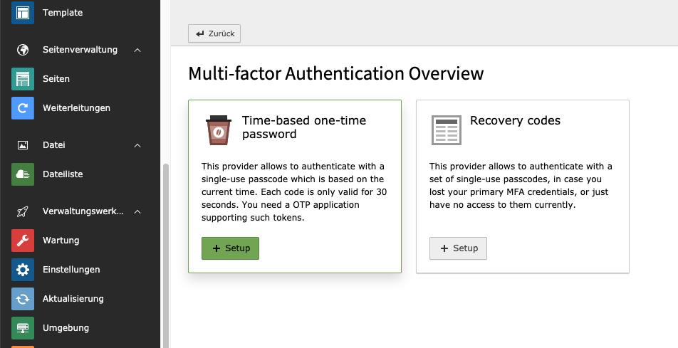 Multi-Fakator-Authentifizierung