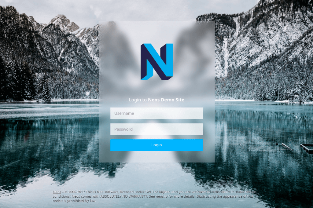 Neos Backend