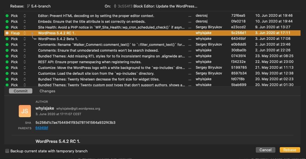 Das PopUp bei einem Merge in der Git-GUI Fork