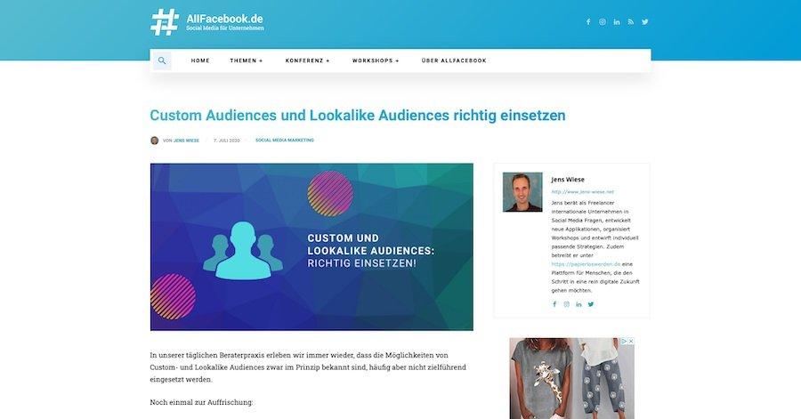 Custom Audience und Lookalike Audience – so setzt du sie richtig ein.