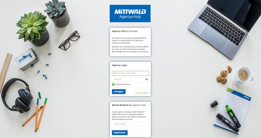 Mittwalds Agentur-Hub