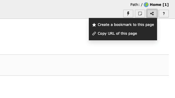 TYPO3 URL teilen