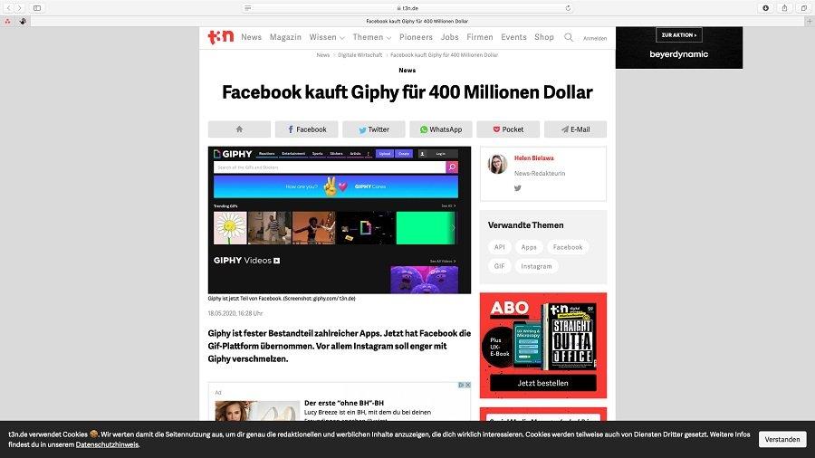 Facebook kauft Giphy.