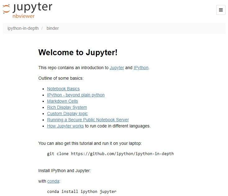 Screenshot aus Jupyter