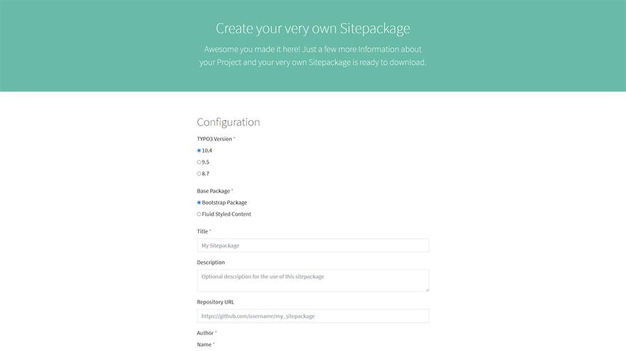 Startseite Sitepackage