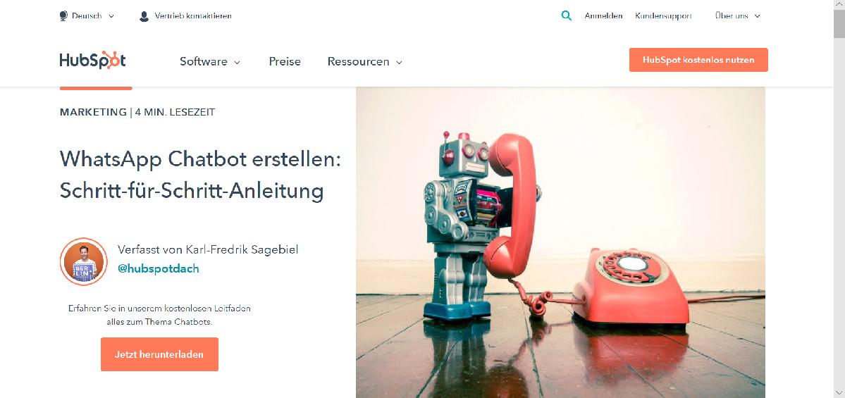 Screenshot blog.hubspot.de