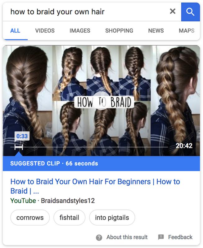 """Detailansicht der Google Bildersuche zu """"How To Braid"""""""