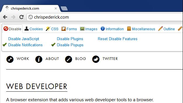 Web Developer ist ein Urgestein und Must-Have für Entwickler