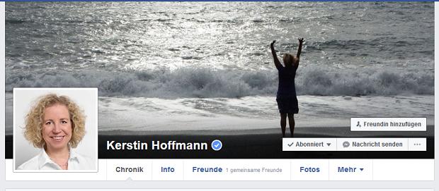 Kerstin Hoffmann auf Facebook