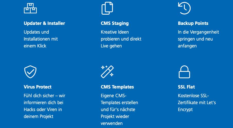 CMS-Tools sind in den neuen Hosting-Tarifen inkludiert.