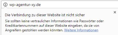 Warnung unverschlüsselte Websites