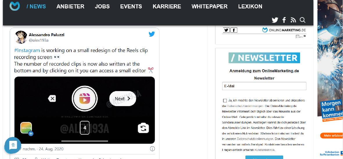 Screenshot onlinemarketing.de