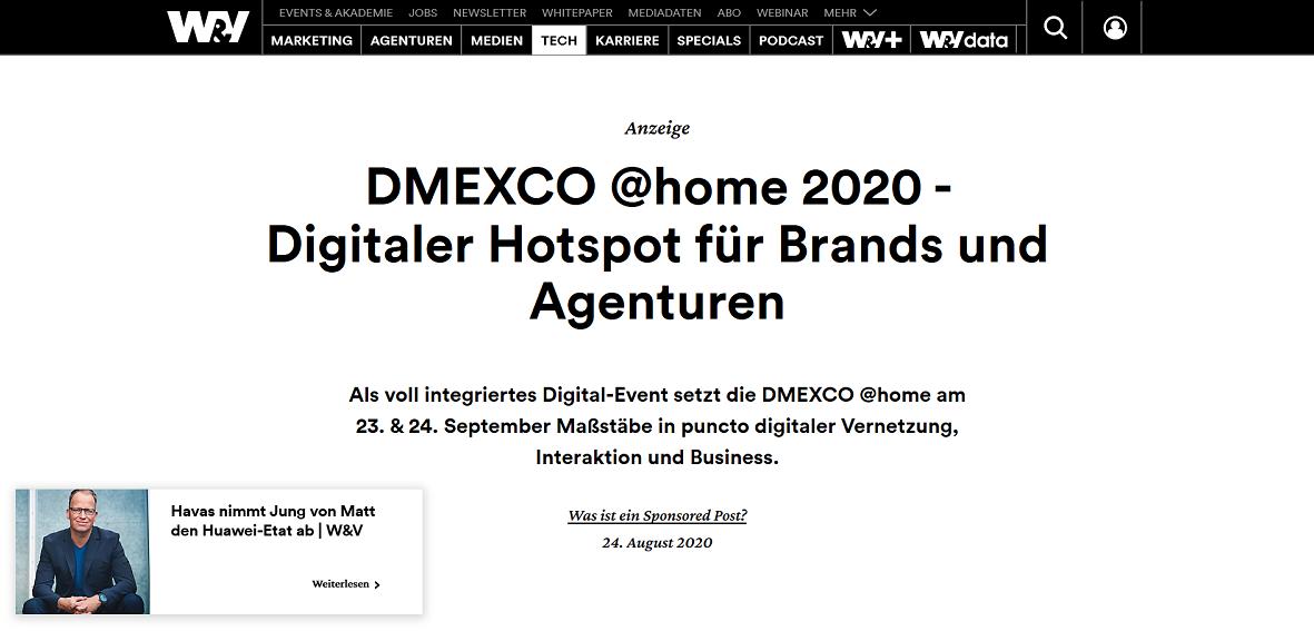 Screenshot wuv.de