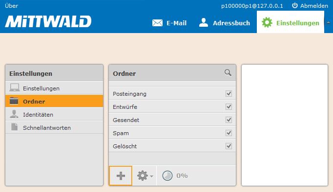 Neuen Webmail-Ordner anlegen