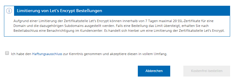 Let\'s Encrypt SSL-Zertifikate | Mittwald