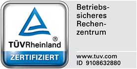 TÜV-zertifiziertes Rechenzentrum
