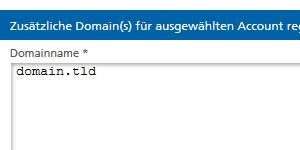 Domain reservieren