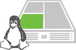 Virtual Root Server Grafik mit Tux