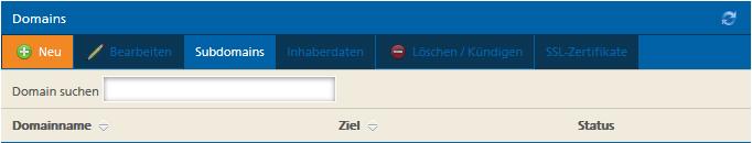 Neue Domain bei Mittwald auswählen