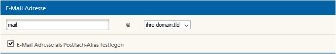 E-Mail-Adresse definieren