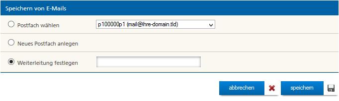 Weiterleitung für E-Mails festlegen