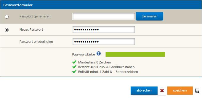 Neues Passwort für Mittwald Postfach