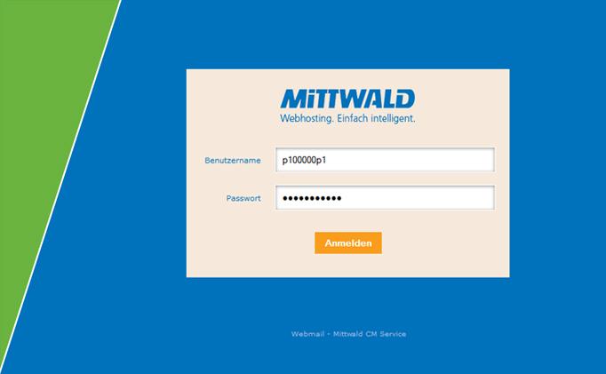 Webmail Mittwald einloggen
