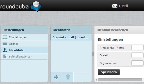 Einstellungen Webmailer