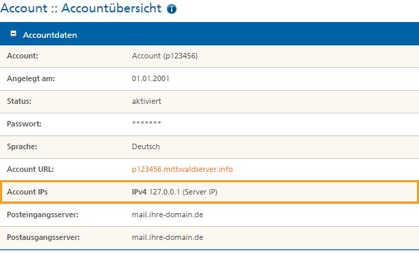 Wo sehe ich meine IP-Adresse Mittwald Kundencenter