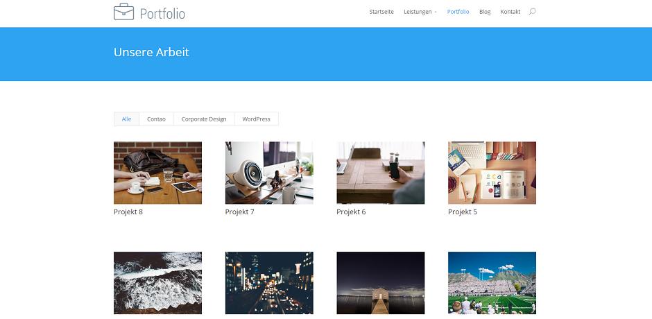 Ausgezeichnet Wordpress Portfolio Vorlagen Kostenlos Fotos ...